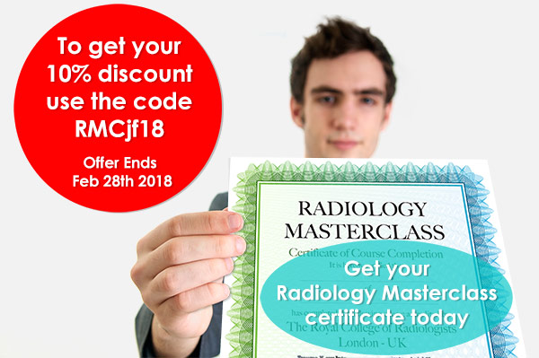 Radiology Masterclass course completion assessments - Certificate